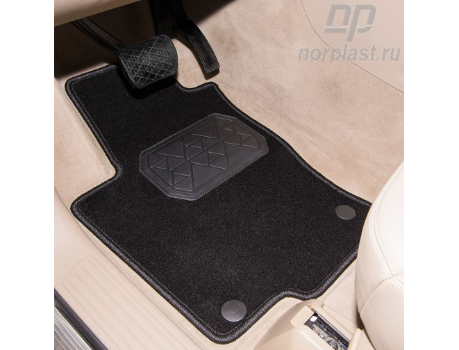 Textile carpet mat for luggage compartment for Audi Q7 (2015) pce