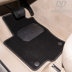 Textile carpet mat for luggage compartment for Fiat 500 (2007) pce